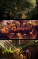 Desert Level Game Concepts #006,7,8 by PeterKmiecik