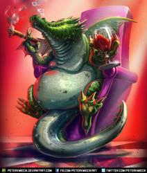 Mafia Boss Dragon by PeterKmiecik