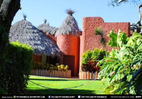 Free Stock African House Building Leafs Design by PeterKmiecik