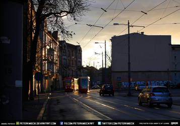 Free Stock City Urban Streets Sunset Architecture by PeterKmiecik