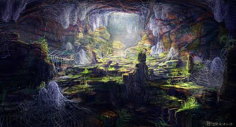 Spider eggs cave #throwback by PeterKmiecik