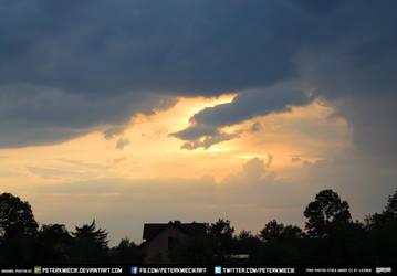 Free Stock Sky Sunset Clouds Storm Sun Beautiful by PeterKmiecik