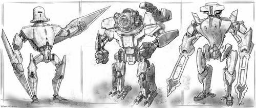 Robots digital sketch by PeterKmiecik