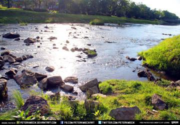 Free Stock River Rocks Water Grass Summer Stream by PeterKmiecik