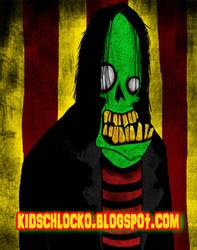 Smiling Green Zombie by kidschlocko