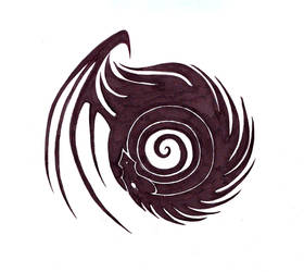Dragon Tattoo Design IX by bexyboo16