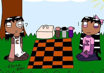 Crafty and Innosence's picnic by MsEmerald7