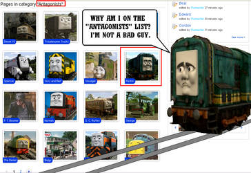 Paxton's reaction to the Thomas wiki by Eli-J-Brony