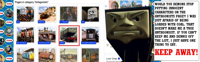 Hector's Reaction to the TTTE wiki by Eli-J-Brony