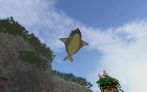 Floating Jabu Jabu by Eli-J-Brony
