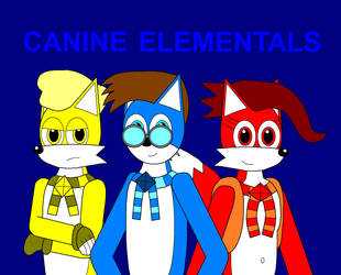 Canine Elementals Poster by Eli-J-Brony