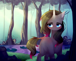 Oleander in the Woodland by TwinkePaint