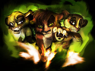 Kovu, Vitani and Kiara by TheGreenRabbit
