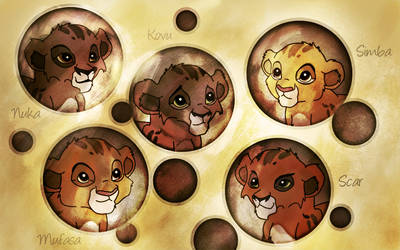 Babies lions by TheGreenRabbit