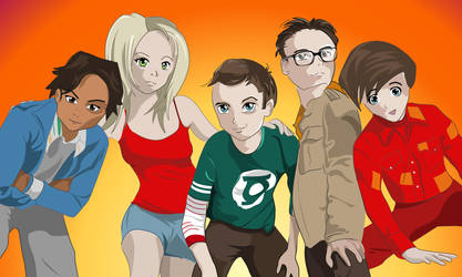 The Big Bang Theory by TheGreenRabbit