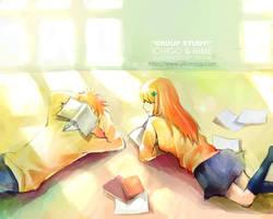 Ichigo n Hime's study group:o by yirumi