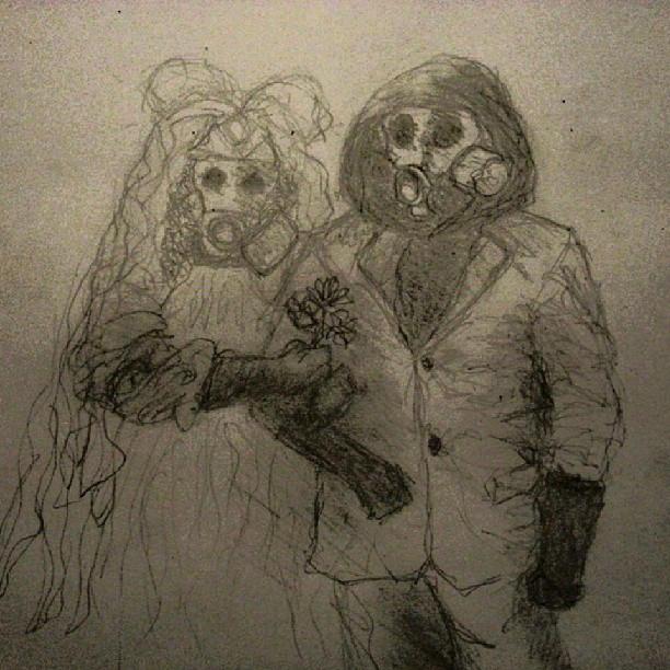 Gas Mask Wedding By Savagebeatings