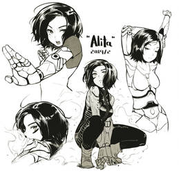 Commission WIP - Alita by chopindraw