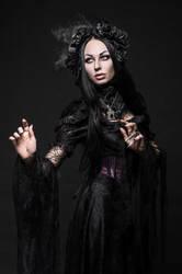 Gothic woman in dark 6 by bouzid27