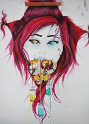 Crimson Clockwork by ann-ovtharocks