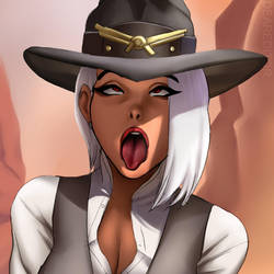 Overwatch Ashe -AHEGAO by DearEditorr