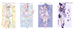 (Open) Pastel batch adopts! by Susheal