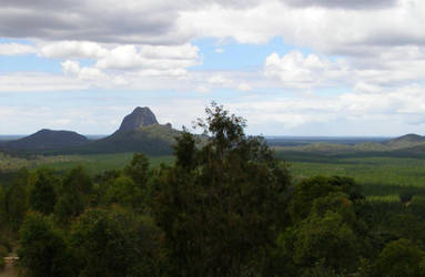 Glasshouse Mountains again by asher1961