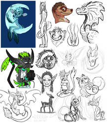 bunch of sketches and WIPs 3 by RRRAX