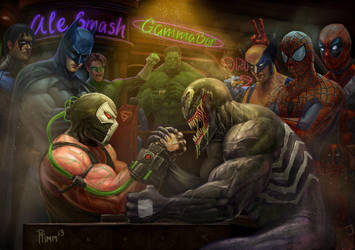 Bane vs Venom: Wrestling Addiction 2 by PTimm