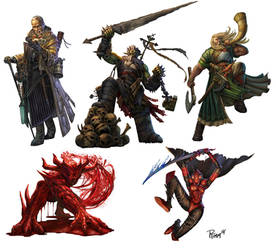 Paizo Pathfinder Characters by PTimm