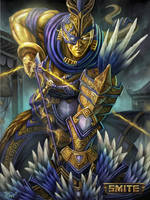Official Hou Yi Smite Gold Card by PTimm