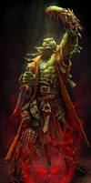 Male Orc Wizard by PTimm