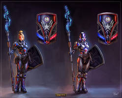 Peace Keeper and Enforcer Athena Concepts by PTimm
