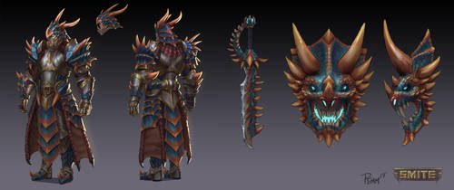 Smite Ares Primal Skin by PTimm