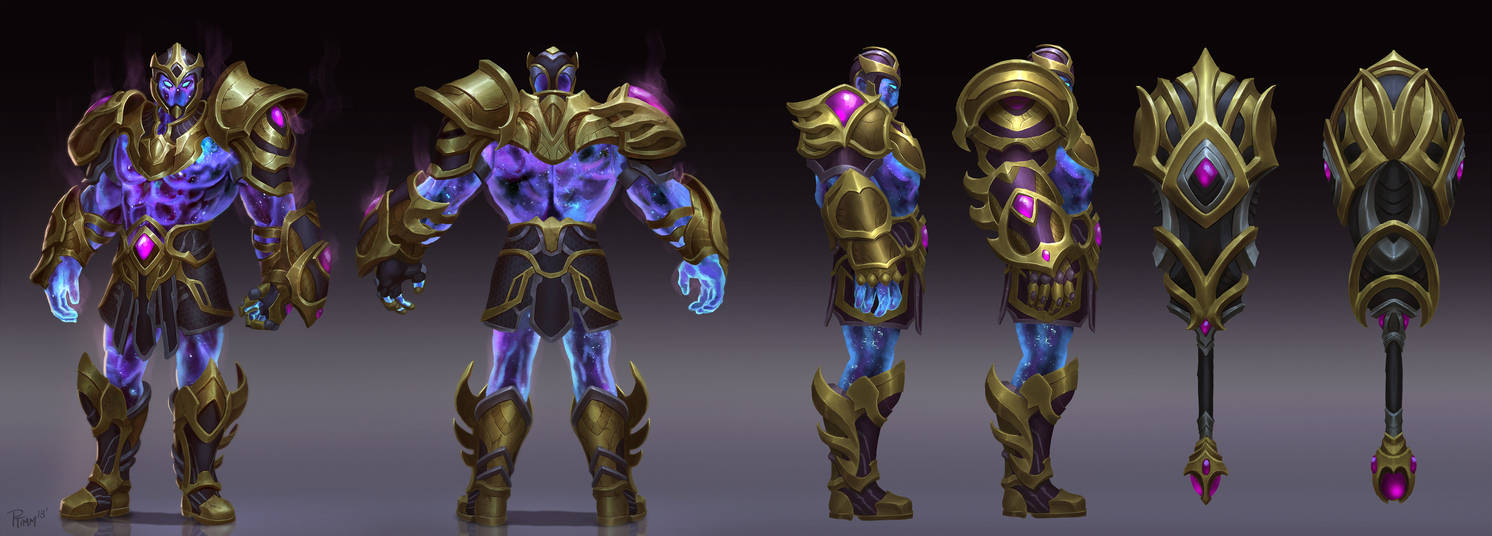 Smite Cosmic Hercules Concept by PTimm