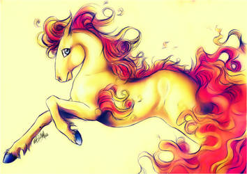 .:Ponyta:FireSwirl:. by WhiteSpiritWolf