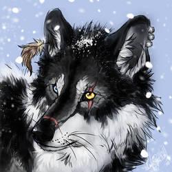 Wasp .:snow head:. by WhiteSpiritWolf