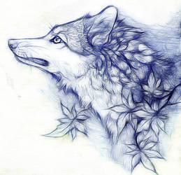 ..:Autumn Wolf:.. by WhiteSpiritWolf