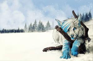 C .: Snowy Landscape :. by WhiteSpiritWolf