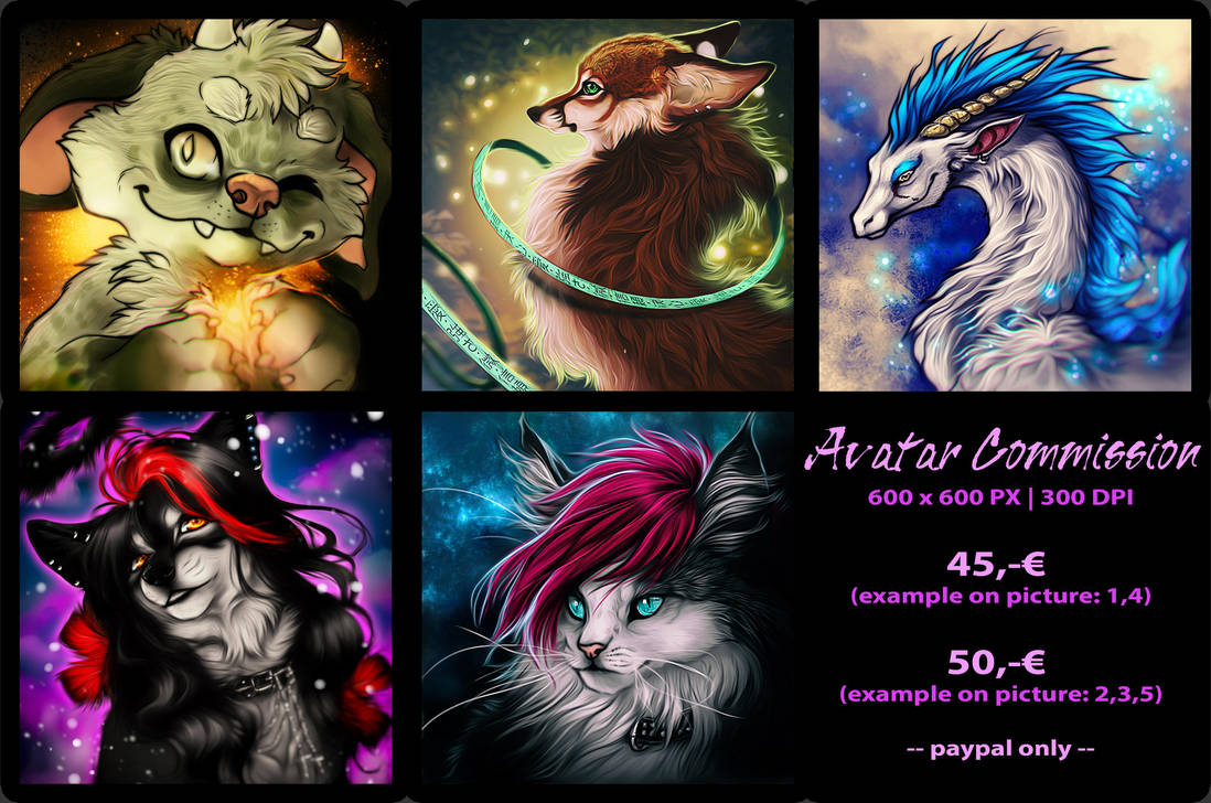 .: EMERGENCY COMMISSIONS :. by WhiteSpiritWolf