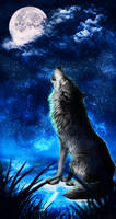 .: Howling Moon :. by WhiteSpiritWolf