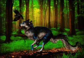 .: Forest Run :. by WhiteSpiritWolf