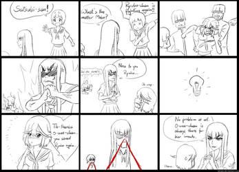 Kill la Kill Alternate Universe fancomic (parody) by h0saki