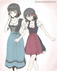 Satsuki and Ryuko Oktoberfest by h0saki