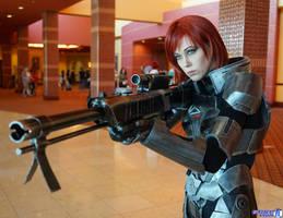 Commander Shepard: Scoping by FantasysHeart