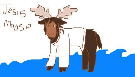 Jesus Moose by 13dawn13