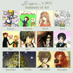 Art Summary 2012 by Yaya-Nyan