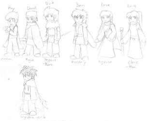 Me and friends in Fire Emblem by Draezeth