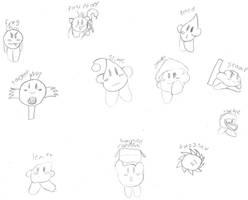 Random Kirby Copy Abilities by Draezeth