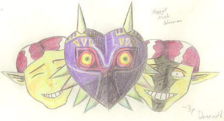Happy? Mask Salesman by Draezeth